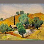 R. Cuneo , California Ranch, o/bd, framed