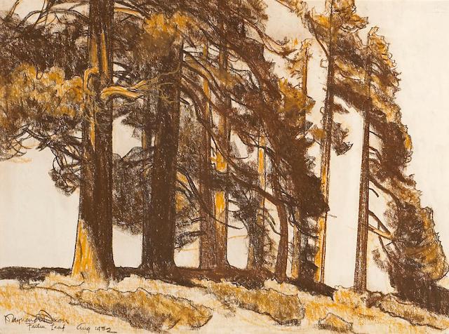 Maynard Dixon (1875-1946) Fallen Leaf 15 x 20in