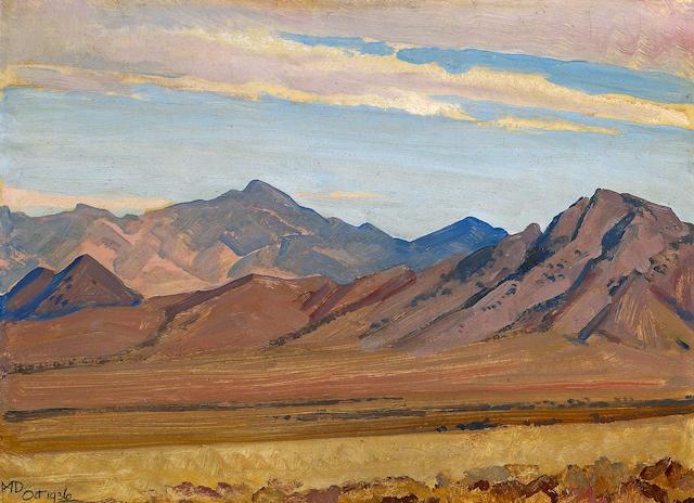 Maynard Dixon (1875-1946) Southern Sierra 10 x 14in
