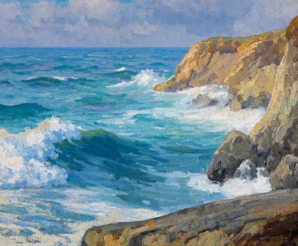 Maurice Braun (American, 1877-1941) 'Seascape' 20 x 24in