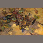 Franz Arthur Bischoff (American, 1864-1929) Grapes (This is my visiting card) 27 x 42in