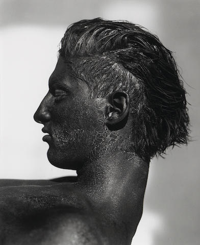Herb Ritts (American, 1952-2002); Tony with Blackface-Profile, Los Angeles;