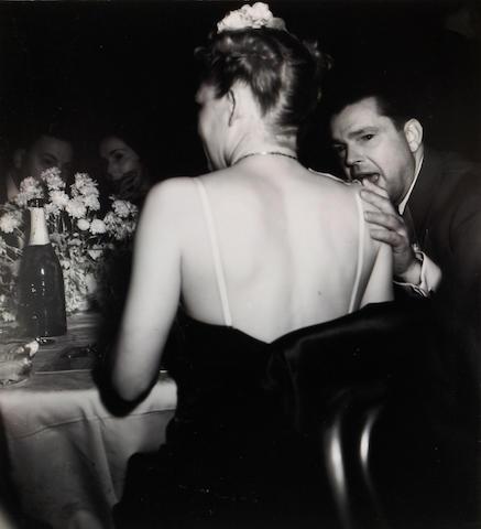 Weegee (Arthur Fellig) (American, 1899-1968); Woman at Metropolitan Opera;
