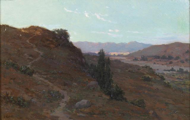 Elmer Wachtel (American, 1864-1929) Alysian Hills 14 x 22in