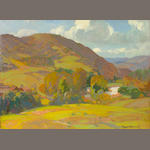 Franz A. Bischoff (1864-1929) 'Over Hills and Vale' 19 x 26in