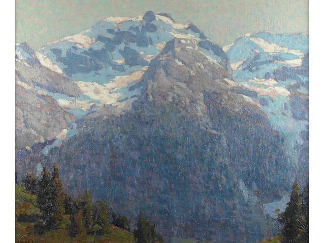 Edgar Payne (1883-1947) Majestic alpine scene 28 x 34in
