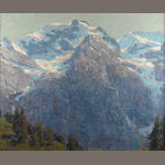 Edgar Payne (1883-1947) Majestic alpine scene 28 x 34in