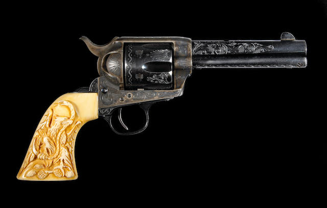 A factory engraved Colt single action army revolver attributed to Cuno E. Helfricht
