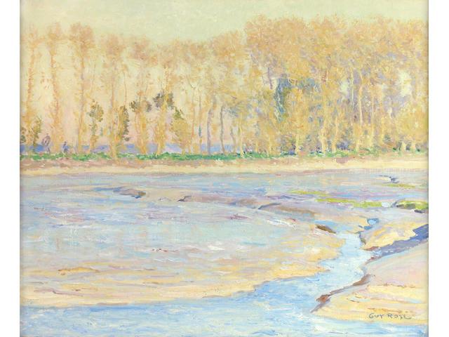 Guy Rose (American, 1867-1925) 'Lowtide Honfleur' 24 x 29in