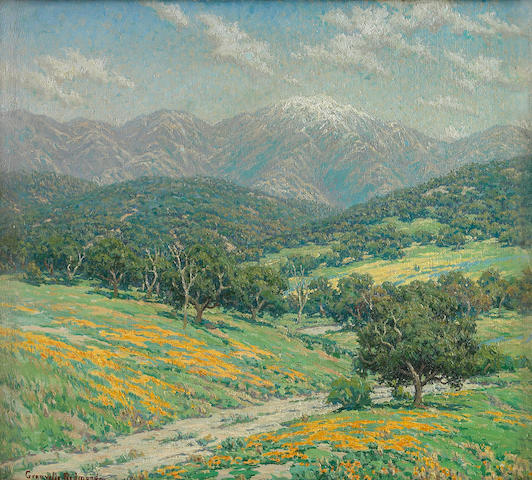 Granville Redmond (American, 1871-1935) Spring 18 x 20in