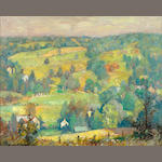 Alfred R. Mitchell (American, 1888-1972) 'Canadensis Hills' (very near the town of Buck Hills Falls)