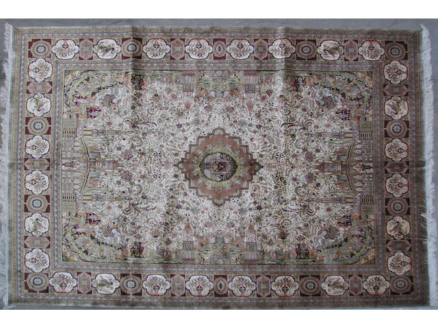 A Kashan style rug size approximately 8ft. x 10ft.