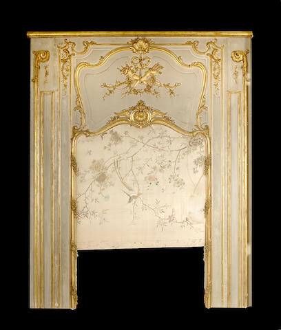A Louis XV style giltwood trumeau