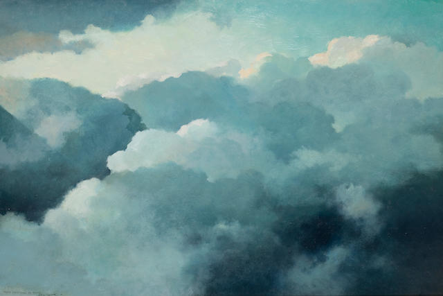 Eric Sloane (American, 1905-1985) Cloud Mountains at 15,000' 24 x 36in