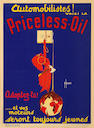 A superb 'Priceless-Oil' advertising poster after H de Aurencin, French, 1920s,