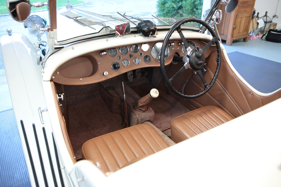 From the Estate of the Late John J. Dalassandro,1937 AC 16/80 Competition Model Sports Two Seater  Chassis no. L631 Engine no. originally UBS 7589, now UMB 294