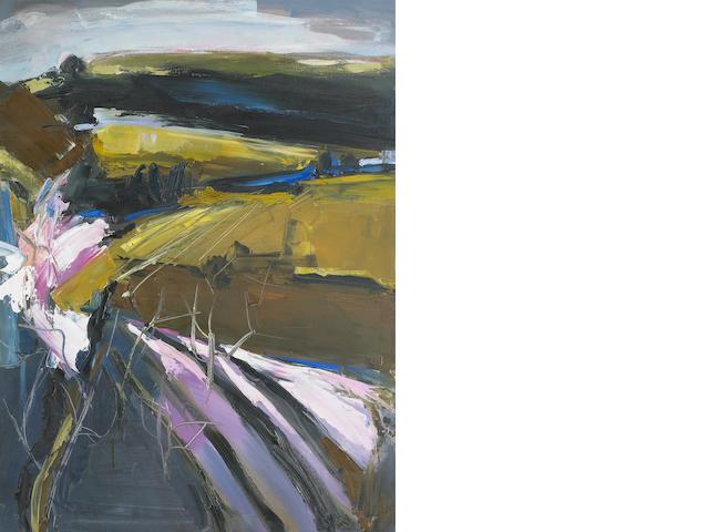Henrietta Berk (American, 1919-1993) Orchard 40 x 30in