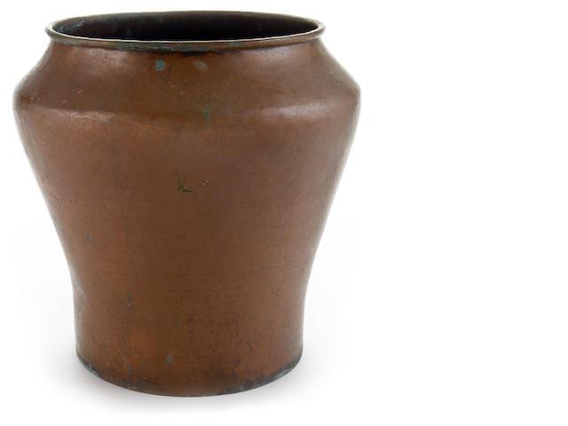 A Dirk Van Erp copper vase