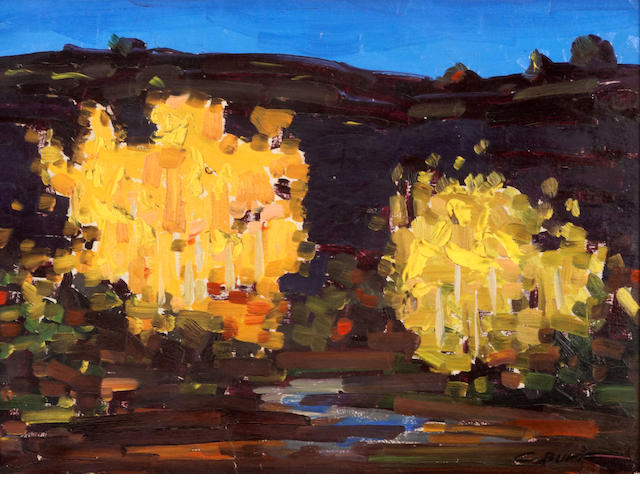 Conrad Buff (American, 1886-1975) Trees in a Landscape 11 1/2 x 15 1/2in