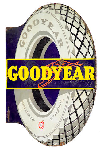 A Goodyear enamel sign,