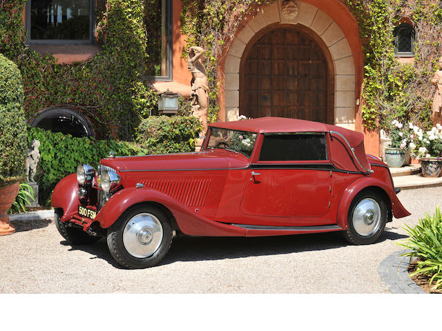 1934 Bentley 3½ Liter Drophead Coupe  Chassis no. B93AE