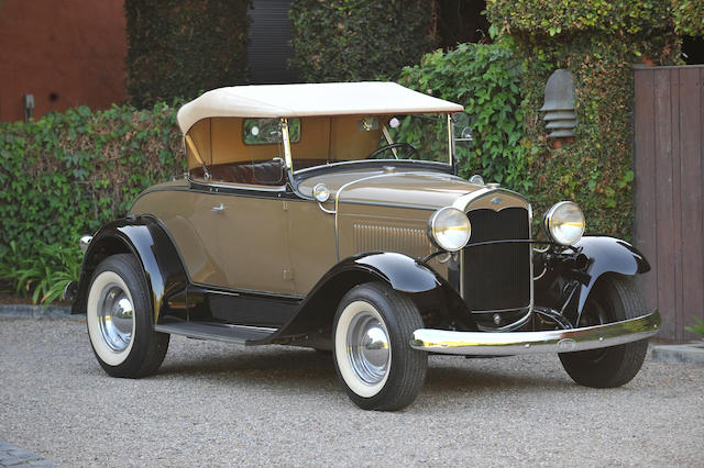 The ex-Mickey Rooney, Judy Garland,1931 Ford Model A Rumbleseat Roadster  Chassis no. A4736318