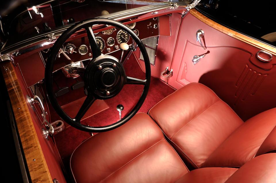 "The ex-William Boyd ""Hopalong Cassidy"", unique coachwork,1933 Duesenberg Model J Torpedo Convertible Victoria  Chassis no. 2535 Engine no. J384"