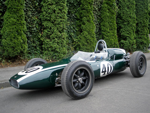 The ex-works, Sir Jack Brabham, Aintree '200', Levin, Lakeside and Sandown Park-winning,1961 Cooper Climax 1.5-2.5-liter T55 'Slimline' Formula 1 & Tasman Racing Single-Seater  Chassis no. F1/10/61