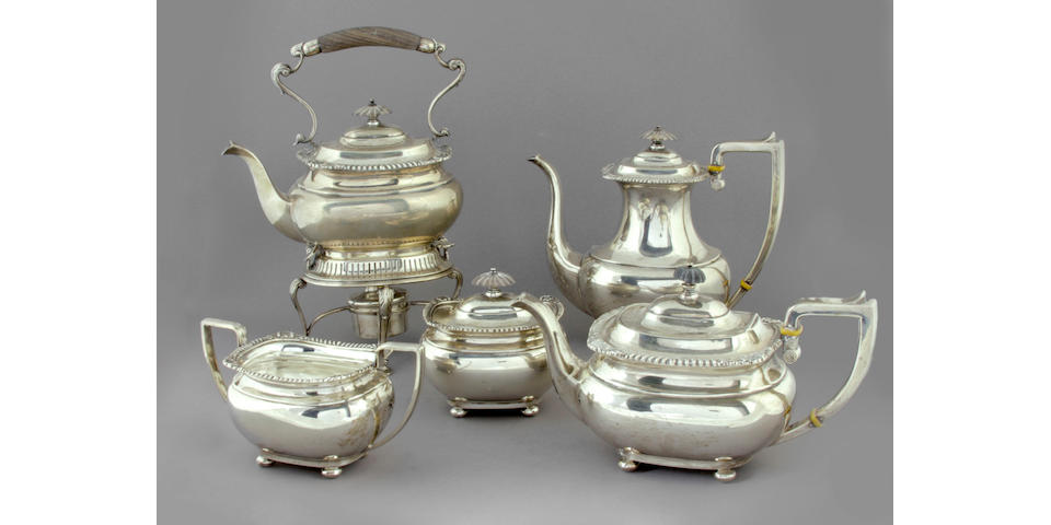 American Sterling Lord Robert Five Piece Tea & Coffee Service by International