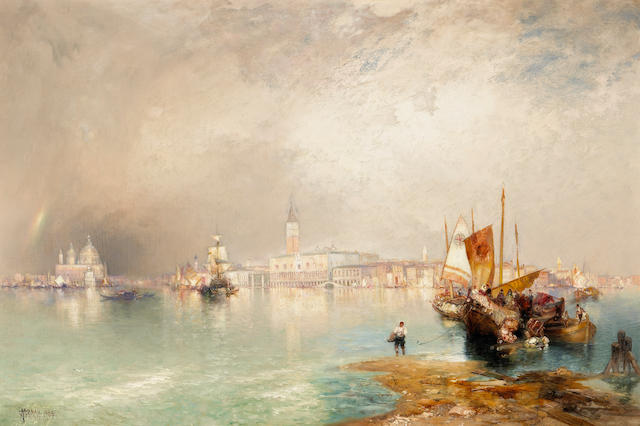 Thomas Moran (American, 1837-1926) 'The Grand Canal, Venice', 1905 20 x 30 1/4in