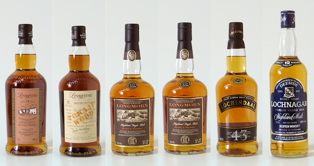 Longrow-14 year oldLongrow Tokaji Wood-10 year old-1995Longmorn-15 year oldLochindal-10 year oldLochnagar-12 year old
