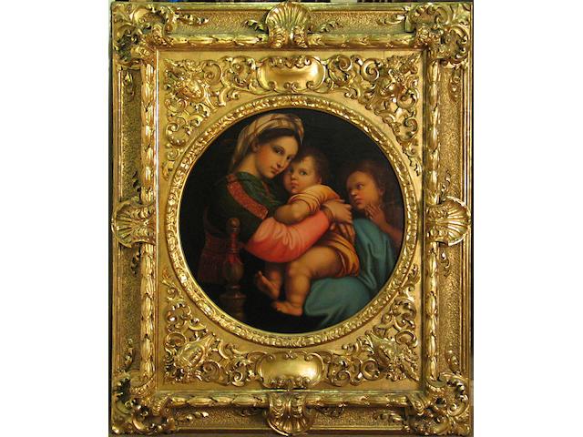 After Raffaello Sanzio, called Raphael Madonna della Seggiola 29 1/2 x 29 1/2in
