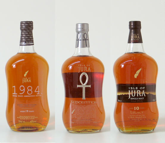 Isle of Jura-19 year old-1984  Isle of Jura Superstition  Isle of Jura Legacy-10 year old