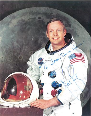 ARMSTRONG SIGNED PHOTOGRAPH.