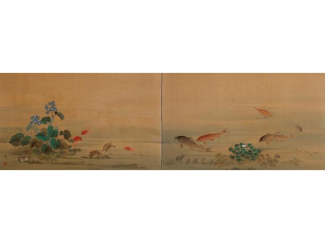 Hashidate Shisen (1855-1921) Water life