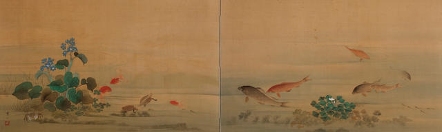 Water life Hashidate Shisen (1855-1921)