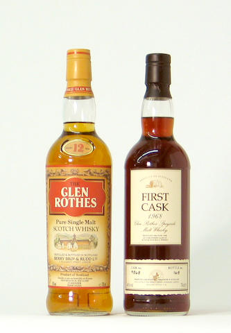 Glenrothes-12 year old  Glenrothes-26 year old-1968