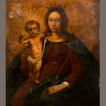Italian School, 18th Century The madonna and child 40 1/4 x 33 3/4in