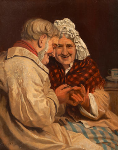 **Hold for Karyn - 19th century Continental School, portrait of an ederly couple