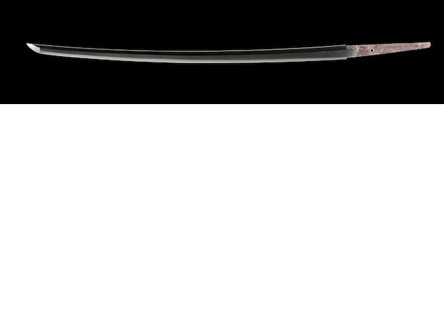 Cane sword, mumei katana but attributed to Yamashiro Taikei Echizen Nobuyoshi, 18th c., tokubetsu kicho papers