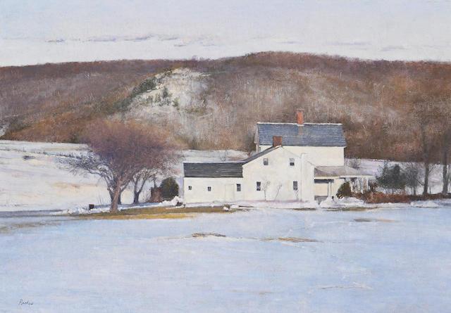 Peter Poskas (American, born 1939) A Winter Landscape