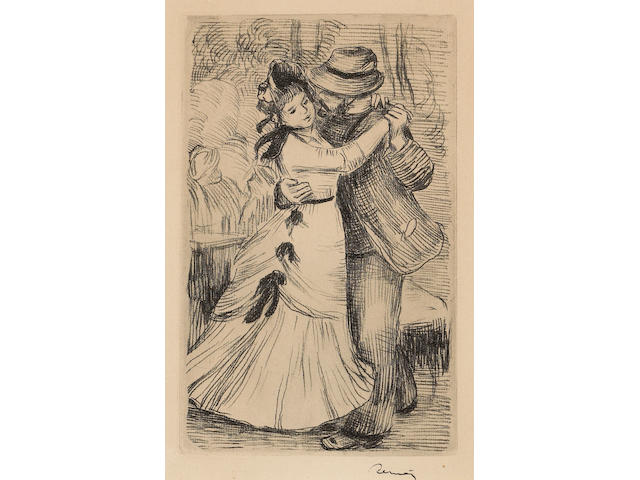 Pierre-Auguste Renoir (French, 1841-1919); La Danse à la Campagne, 2e planche;