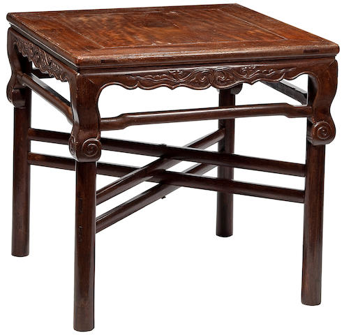 A tielimu dual purpose table with removable folding legs, Liangyong Fang Kangzhuo 18th Century, modern base