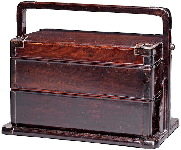 A zitan two-tiered food box, Tihe