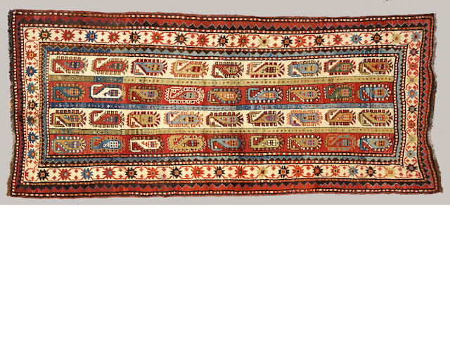 A Kazak runner Caucasus, size approximately 3ft. 11in. x 8ft. 6in.