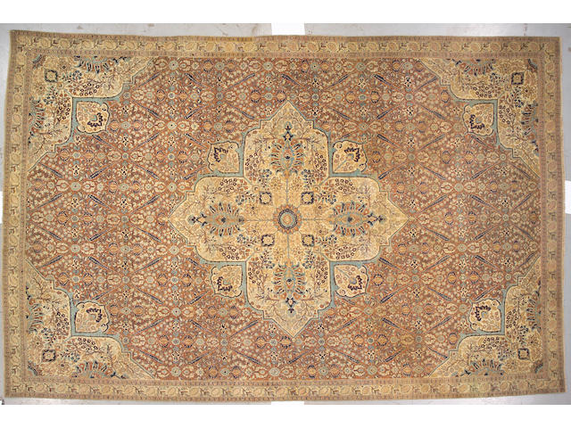 A Hadji Jalili Tabriz carpet Northwest Persia, size approximately 10ft. 6in. x 16ft.