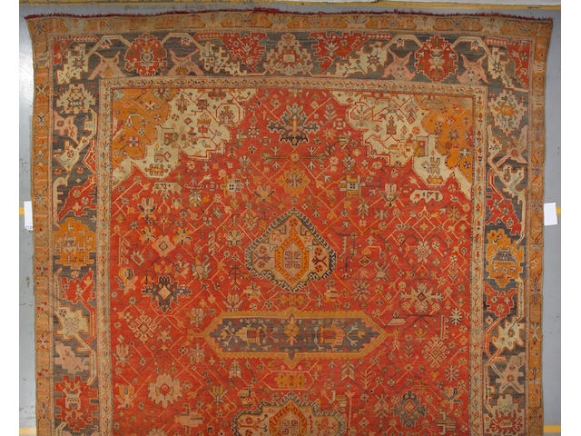 An Oushak carpet Anatolia, size approximately ft. in. x ft. in.