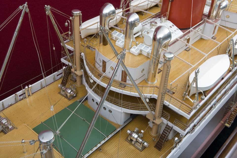 "A large shipbuilders' model of the T.S.M.V. ""Glenearn"" for the Glen Line Ltd.,English, circa 1938"