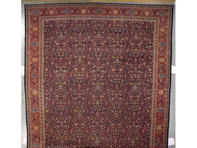 A Tabriz carpet Northwest Persia, size approximately 13ft. 10in. x 22ft. 8in.