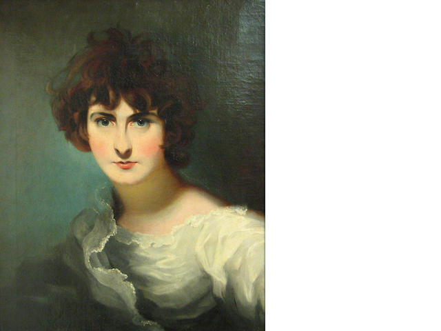 School of Sir Thomas Lawrence (Bristol 1769-1830 London) A portrait of Miss Maria Siddons 23 x 19 1/4in